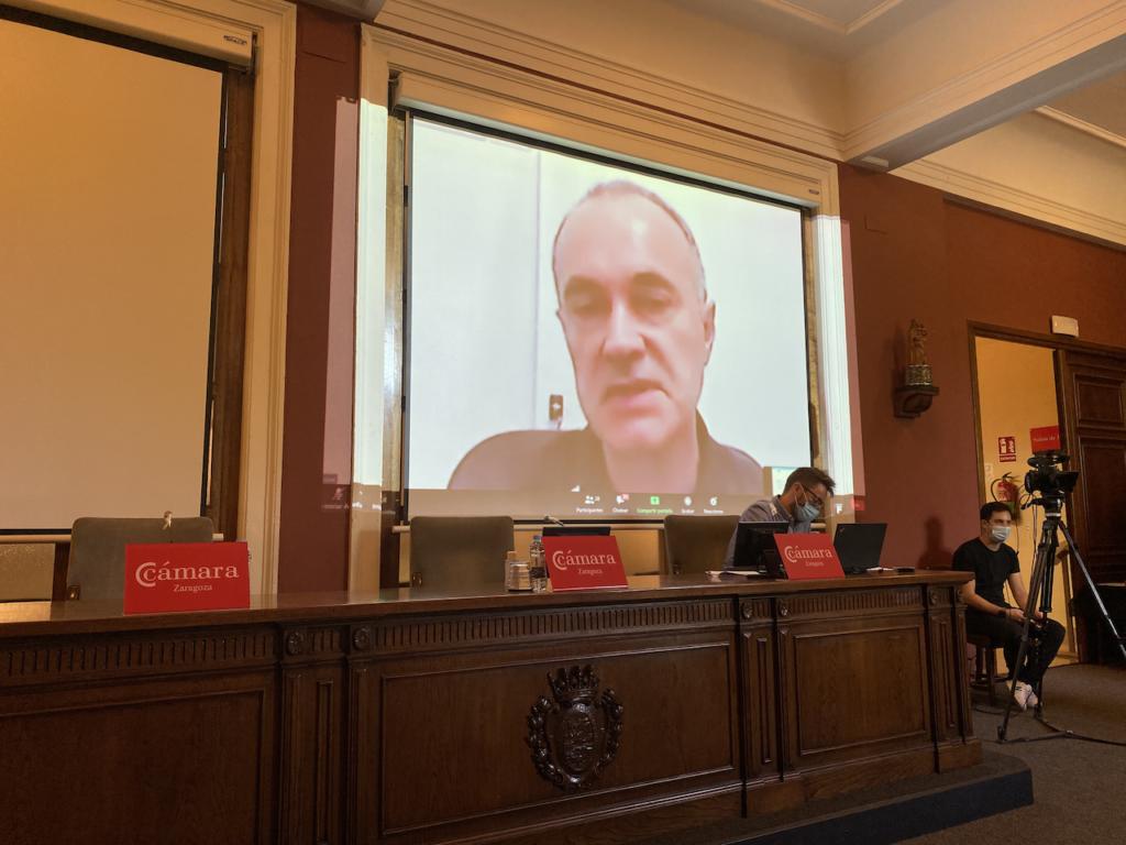 José Vidal (NUTRINSECT SPAIN SL) durante la exposición de sus resultados al Consejo Asesor de Porcinnova