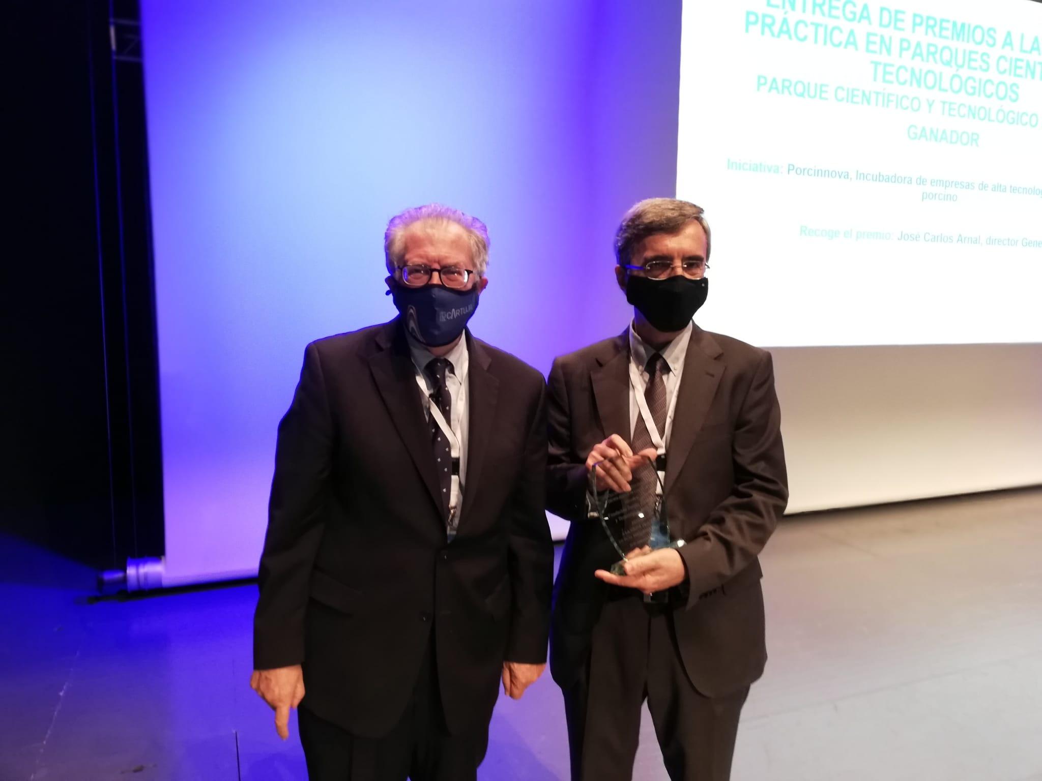El Parque Científico Tecnológico Aula Dei recibe el Premio a la Mejor Práctica en los Parques Científicos y Tecnológicos Españoles en 2020 por el proyecto PORCINNOVA